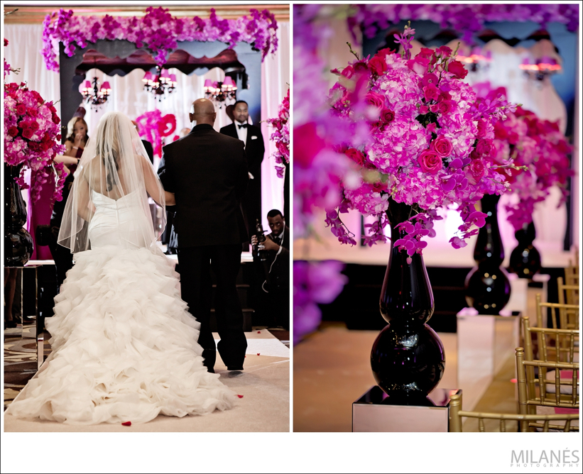 ceremony_decor_ideas_ellyb_events_andy_beach_wedding_entrance_pink_flowers