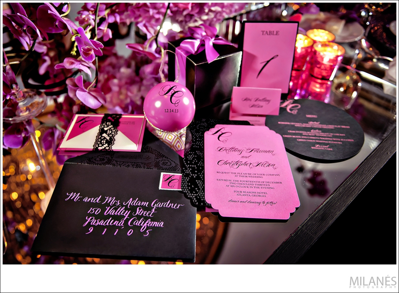 stationery_ideas_ellyb_events_andy_beach_paper_parfait_guest_gifts_black_pink_calligraphy