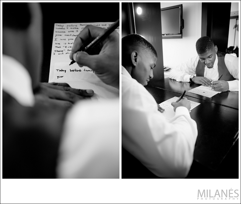 wedding_groom_writing_black_white
