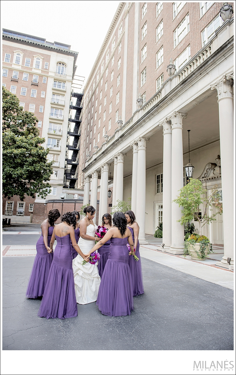 wedding_bride_bridal_party_prayer_city_white_purple