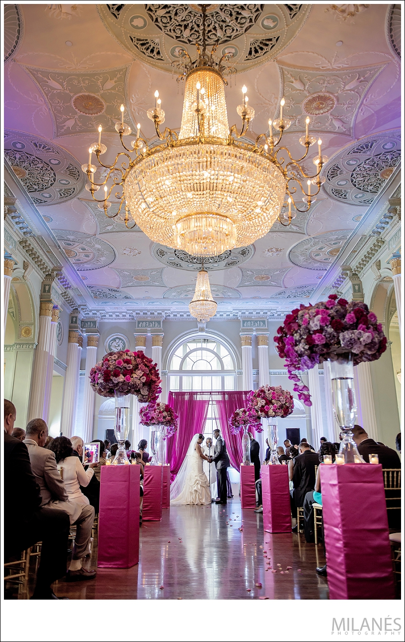 wedding_ceremony_alter_bride_groom_chandelier_flowers_luxurious_beautiful