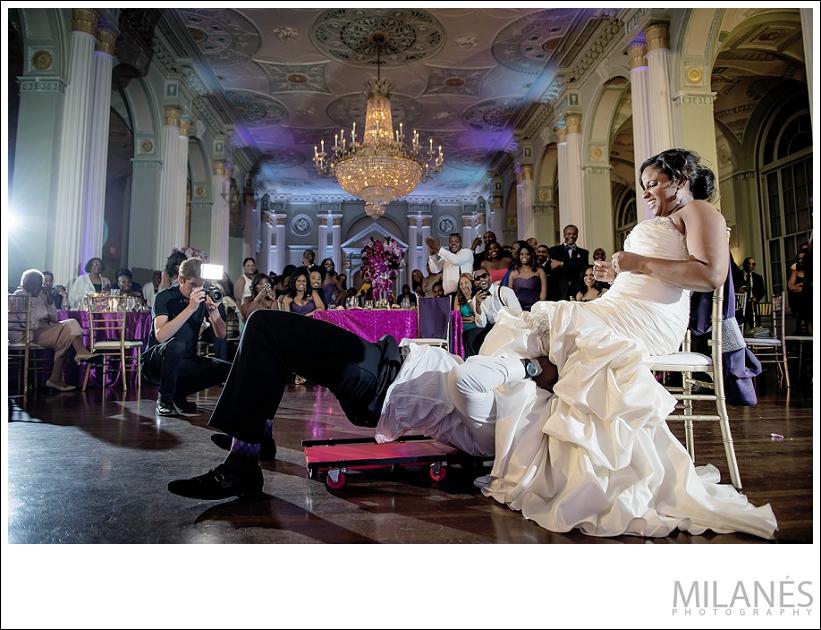 wedding_reception_bride_groom_purple_pink_teal_garter_luxurious
