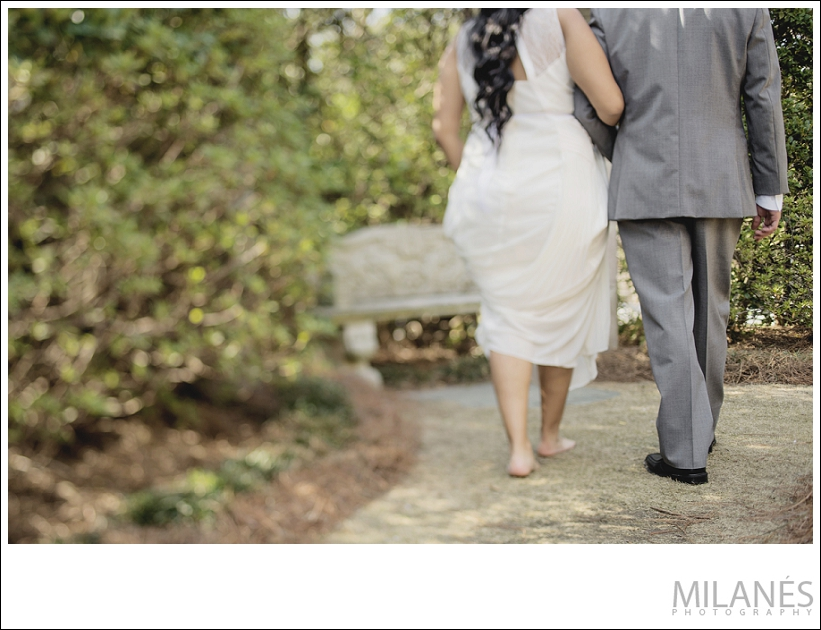wedding_bride_groom_walking_from_behind_outside_city_park_creative_modern_ideas